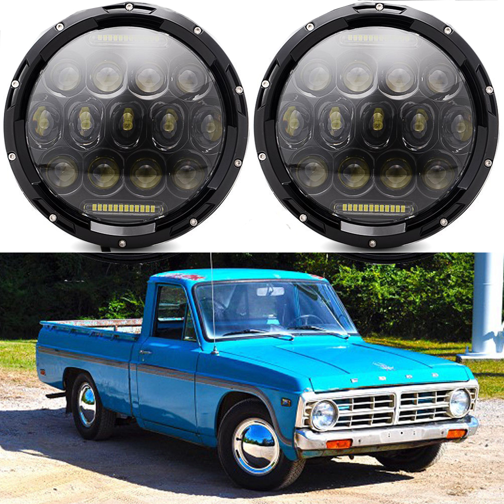 Pair 7 Inch Ford Bronco 1969 1978 Hummer Led Sealed Beam Daymaker Xlt Headlights