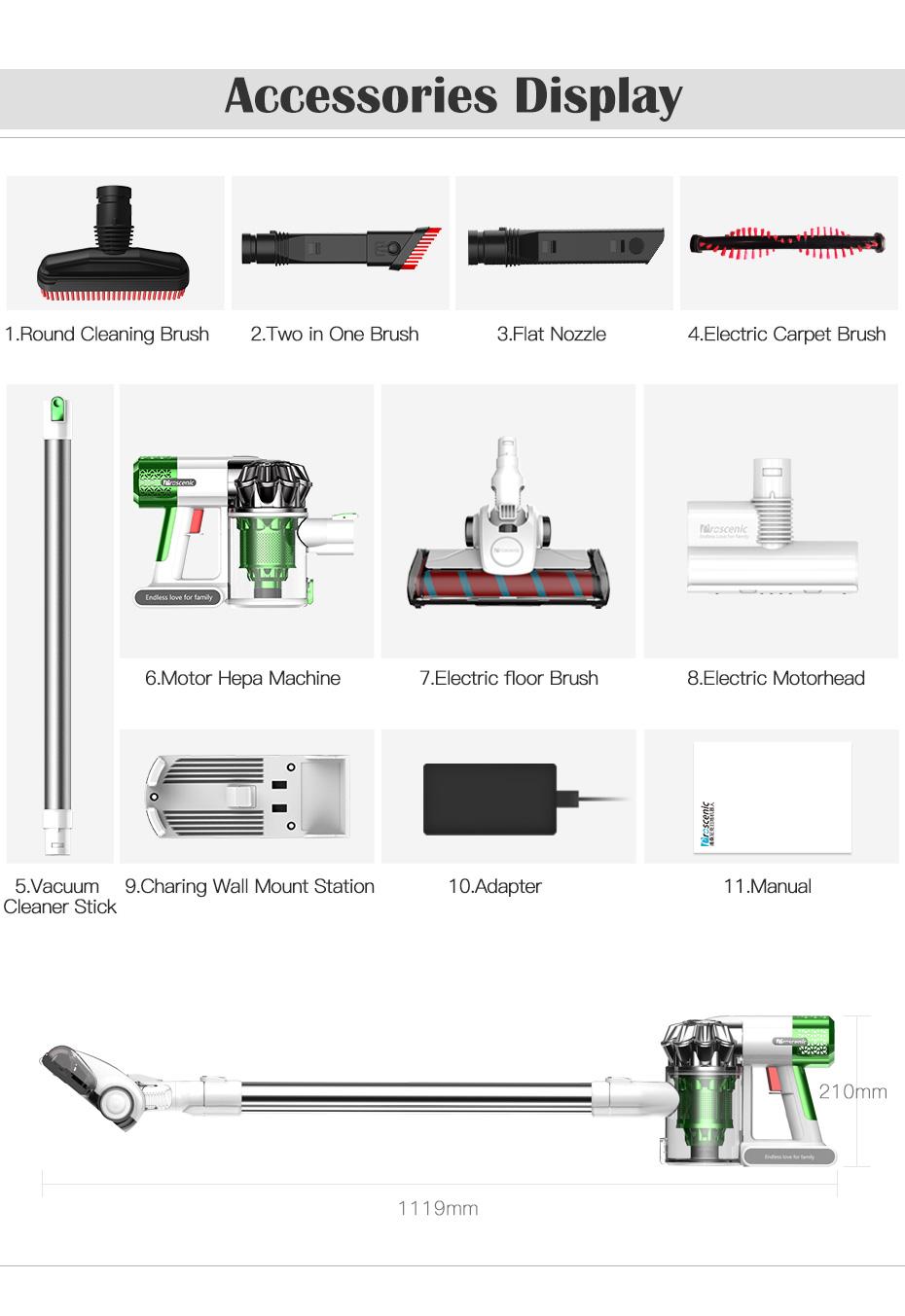 proscenic p9 aspirateur balai sans fil sans sac voiture vertical nettoyeur 200w ebay