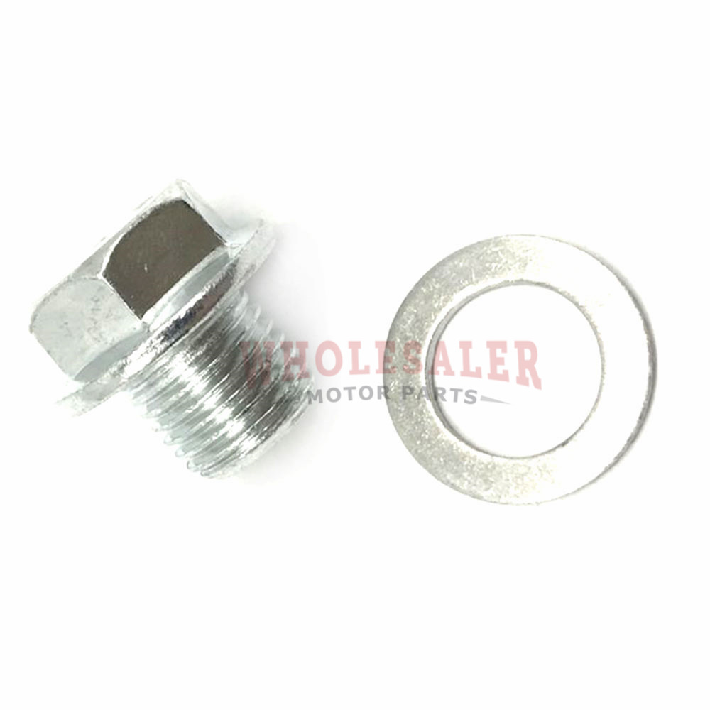 For 95-18 Honda Acura Engine Oil Pan Drain Bolt Plug