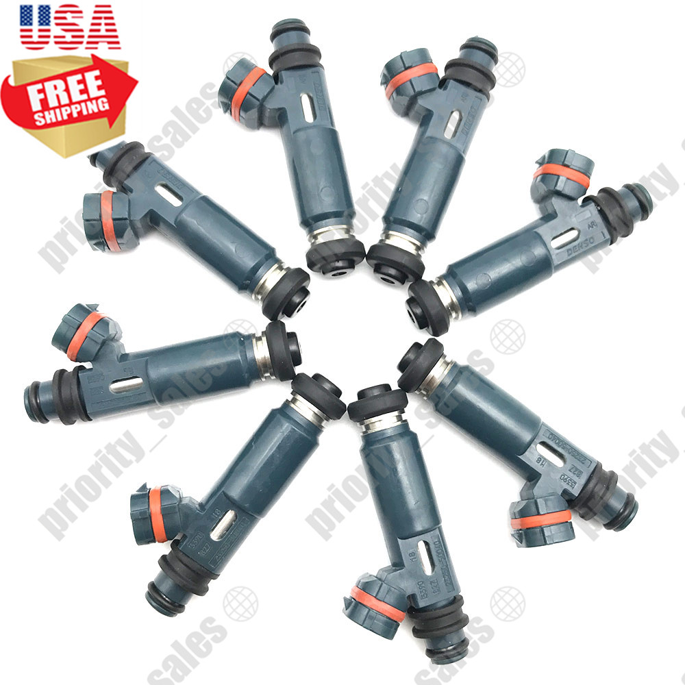 8x OEM Multi Hole Nozzle Fuel Injector For Denso Toyota Lexus 4.7 V8 23250-50040