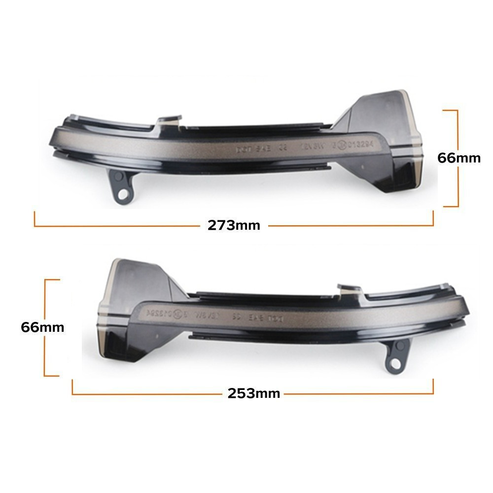 Smoked Lens Side Mirror Sequential Blink Turn Signal Light