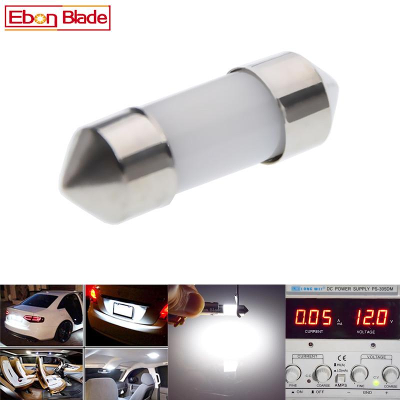 3PCS White 36MM 3 LED 5050 SMD Festoon Dome Car Light Interior Lamp Bulb uk