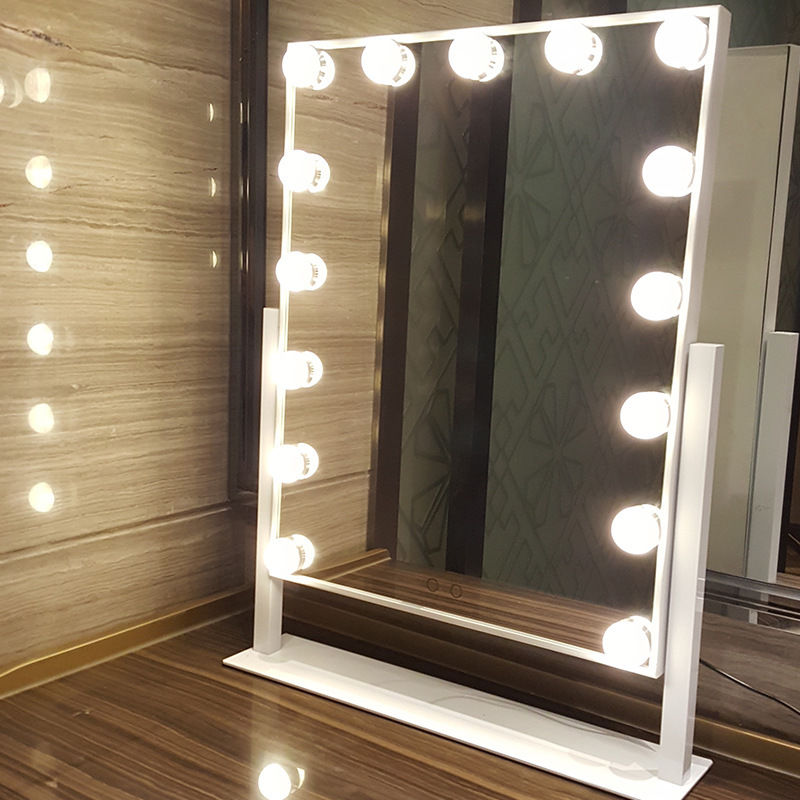 Mirrored Vanity Dressing Table Lights Led ~ Led bulbs hollywood vanity makeup mirror with lights