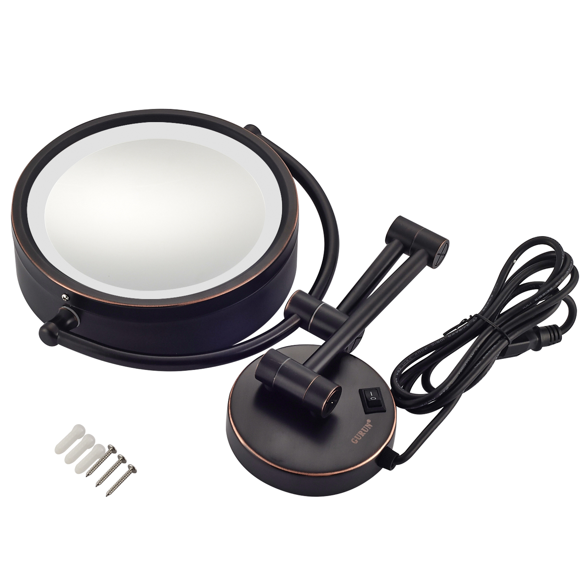 10x 1x Magnification Led Lighted Wall Makeup Mirror Plug