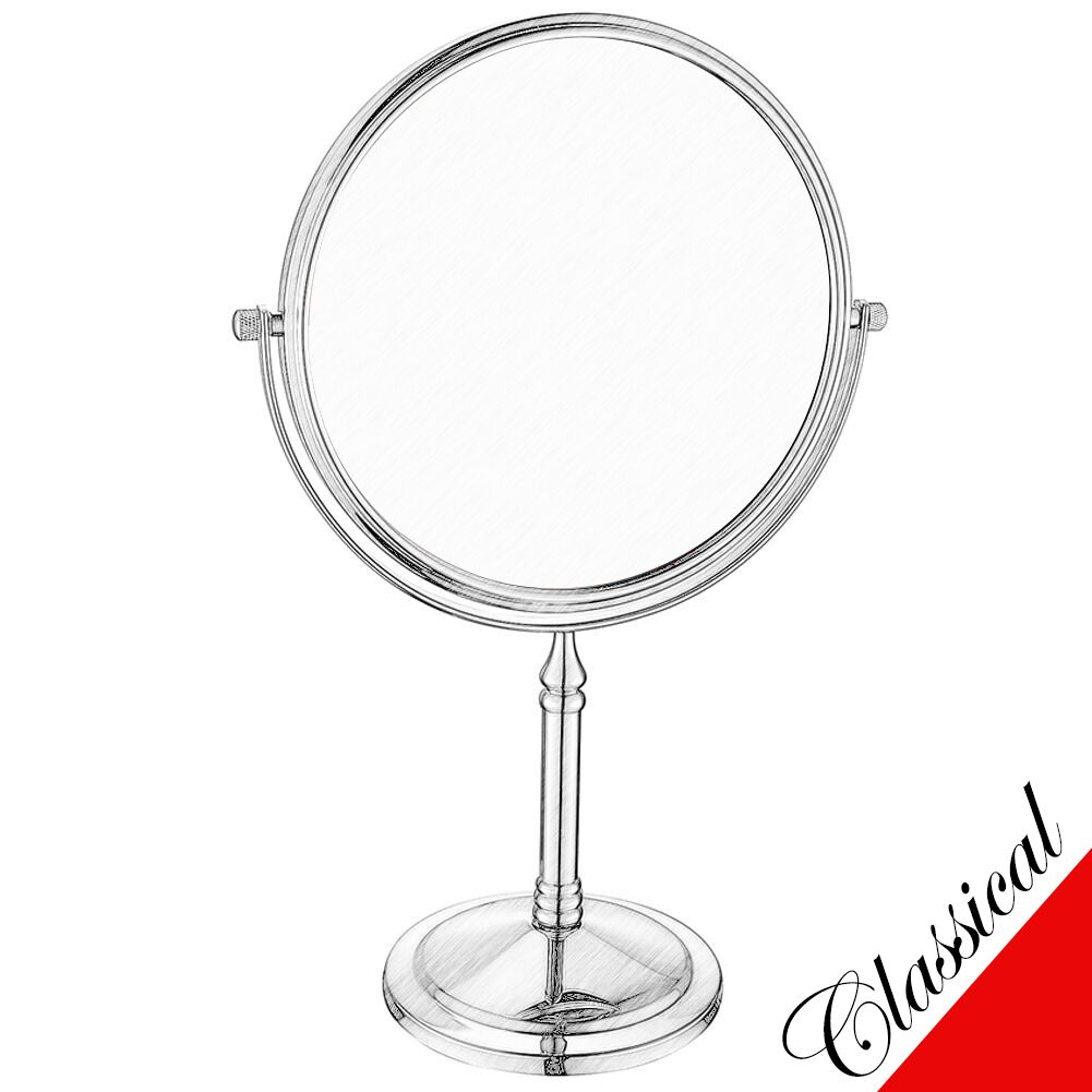 Gurun Gold Double Sided Standing Tabletop Makeup Mirrors