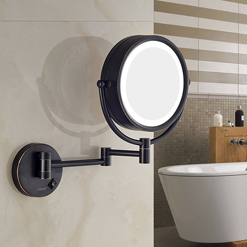 Gurun 10x Magnifying Led Lighted Makeup Mirror Wall Mount