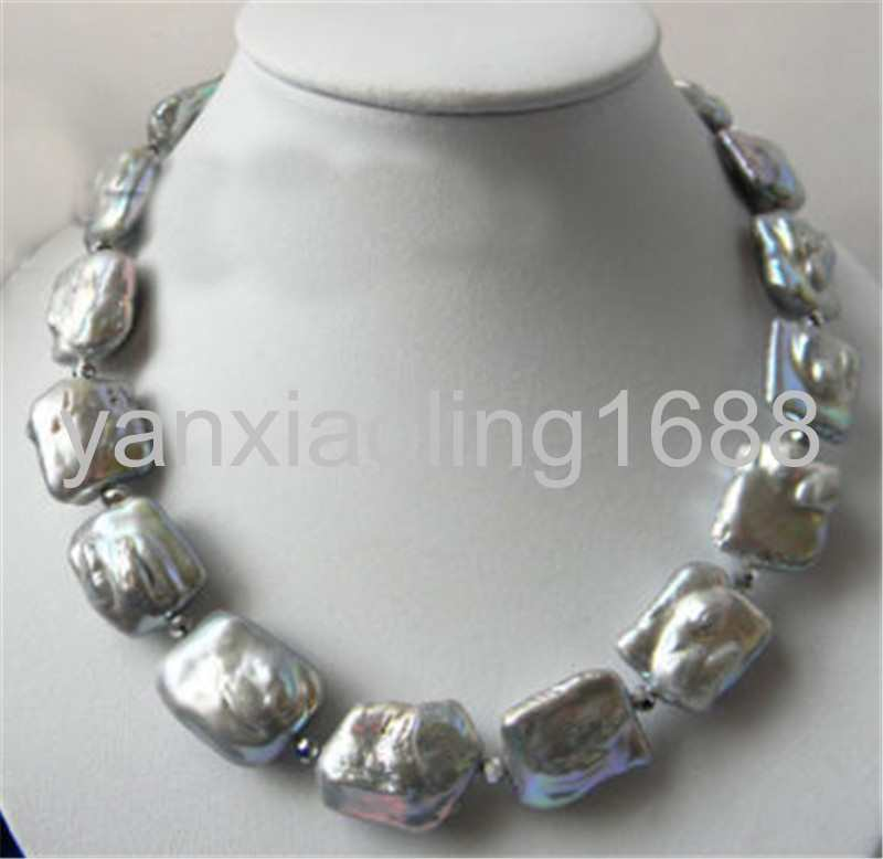 N431 White Turquoise Green Freshwater Pearls w Silver 18 Necklace For Women Earring Set