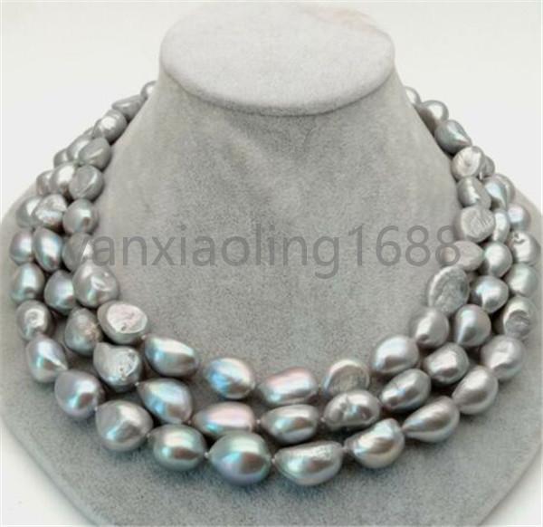 Pearl Necklace Chocker Grey baroque pearl necklace Grey freshwater pearl necklace
