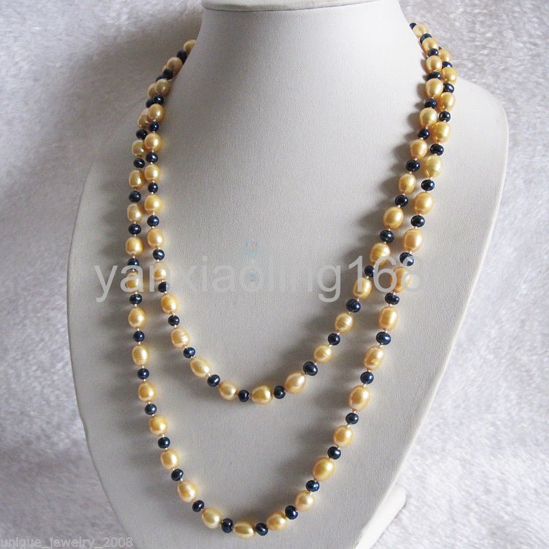 """52/"""" 6-8mm Multi Color Baroque Freshwater Pearl Necklace Strand Jewelry"""