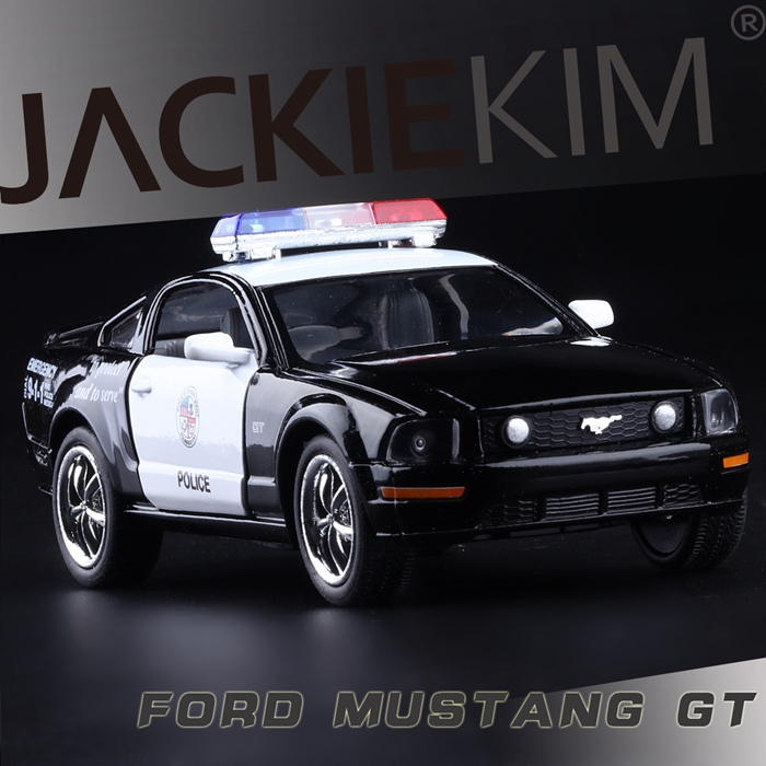Ford Gt Police Carcast Model Car Pull Back