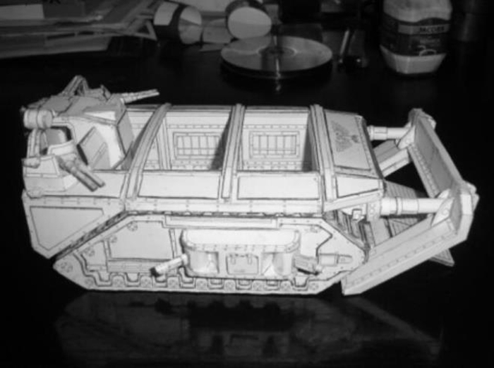 Details about DIY 3D Paper model Warhammer 40K GORGON ARMOURED ASSAULT  TRANSPORT 25cm No Paint