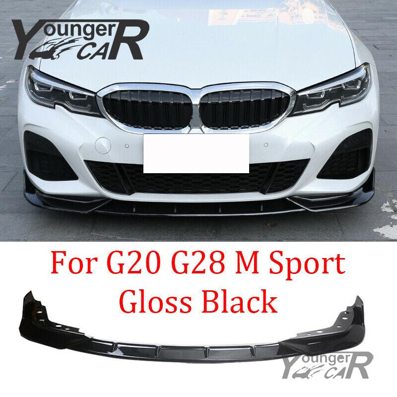 F/üR BMW 3 Series G20 2019-2020 3pcs Front Lippen Spoiler Sport Front Sto/ßStangen Splitter Schutz