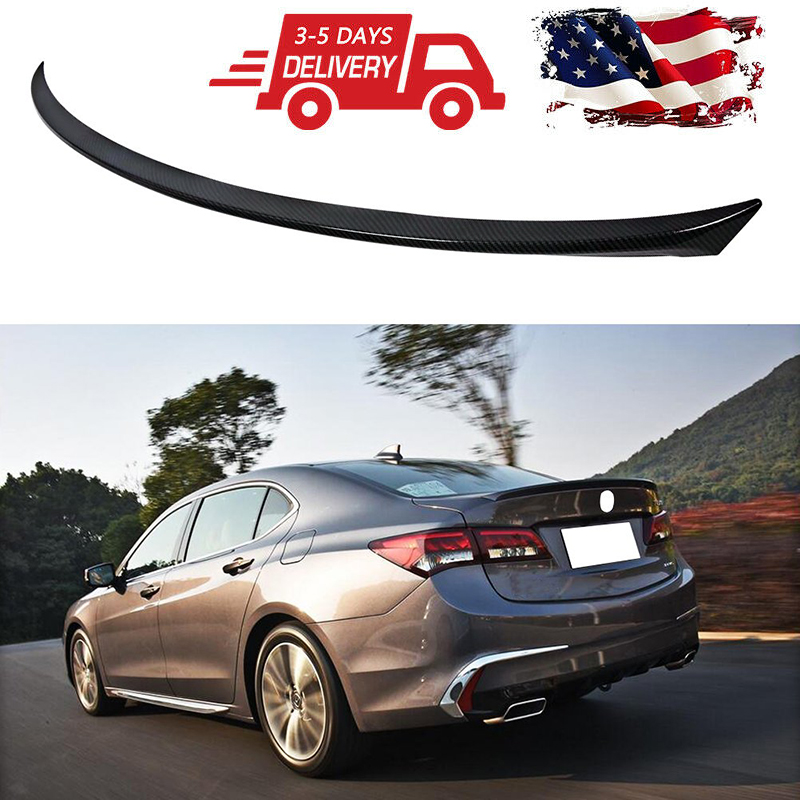 Trunk Spoiler For 2015-2019 Acura TLX ABS Carbon Fiber