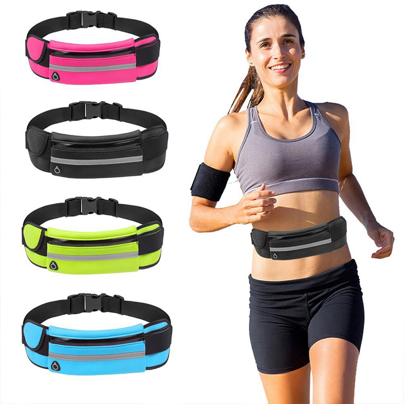 Sports Waist Not Cumbersome Fitness Running Jogging Cycling Pouch Pack Belt Bag