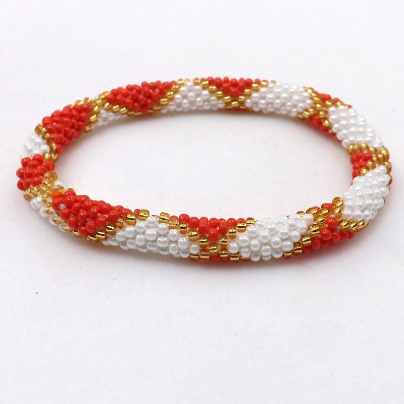 Bracelet Czech Gl Seed Bead Crochet