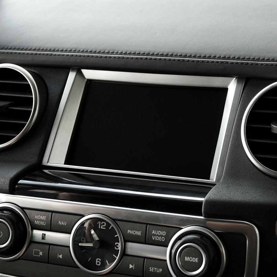 Chrome Navigation Screen Frame Cover Trim For Land Rover