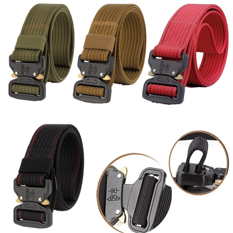 "49*1.5/"" ENNIU Men Tactical Buckle Belt Military Nylon Belt Training Belt Strap"