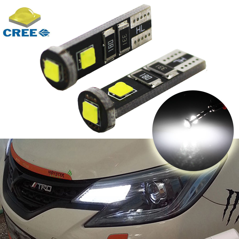 White Xenon T10 CREE LED Bulbs For Car Parking Positon Lights 168 194 2825 W5W