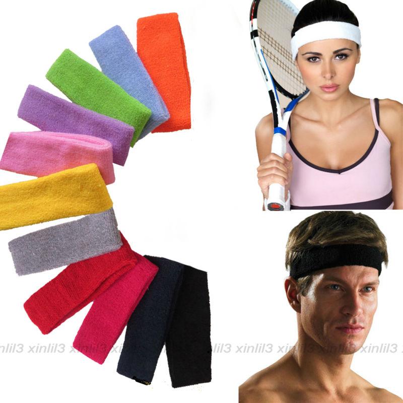 Men Women Sweat Sweatband Headband Yoga Gym Running Stretch Sports Head BanODTC