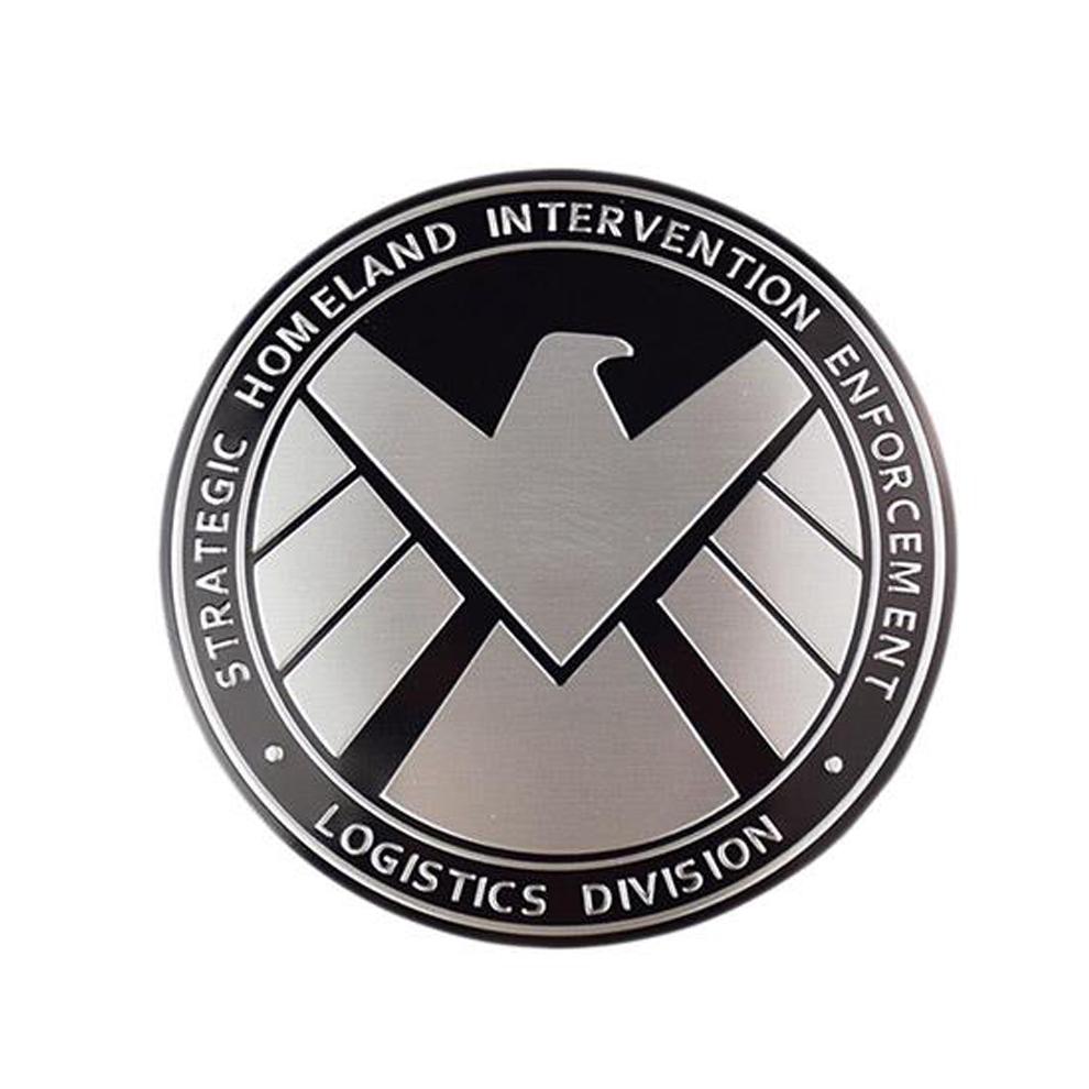 3pcs Avengers Marvel Agents Of Shield 3d Chrome Metal Car Sticker