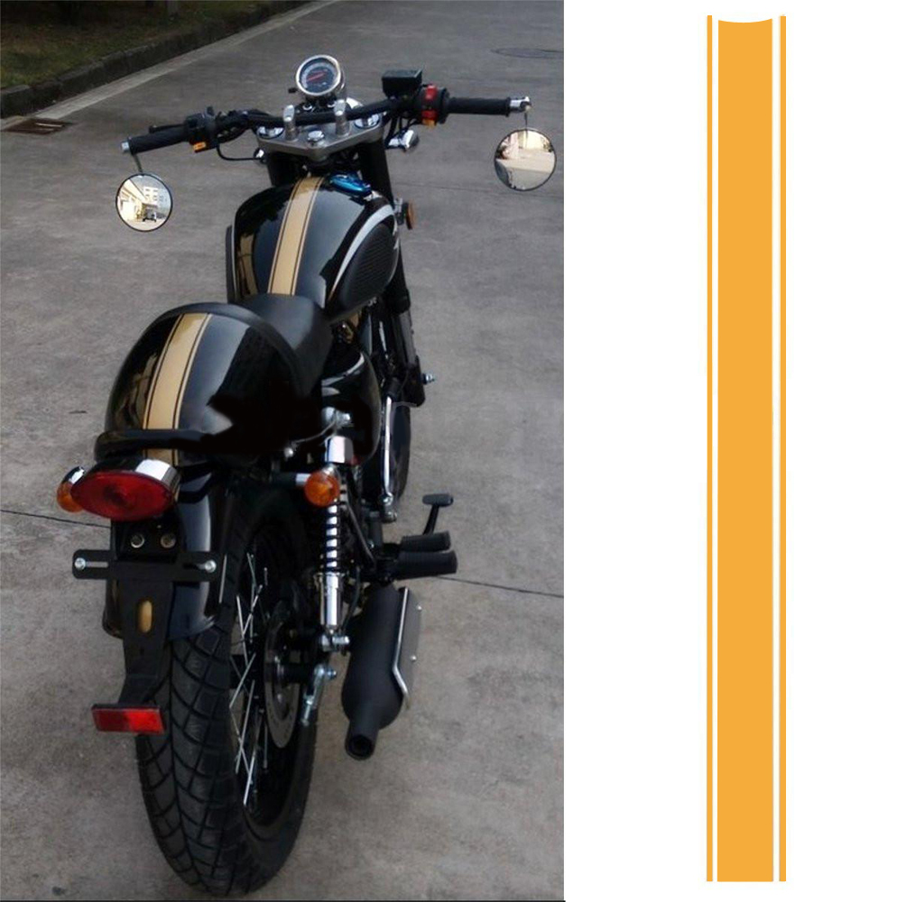 Fashion Motorcycle Tank Cowl Vinyl Stripe Pinstripe Decal Sticker For Cafe Racer