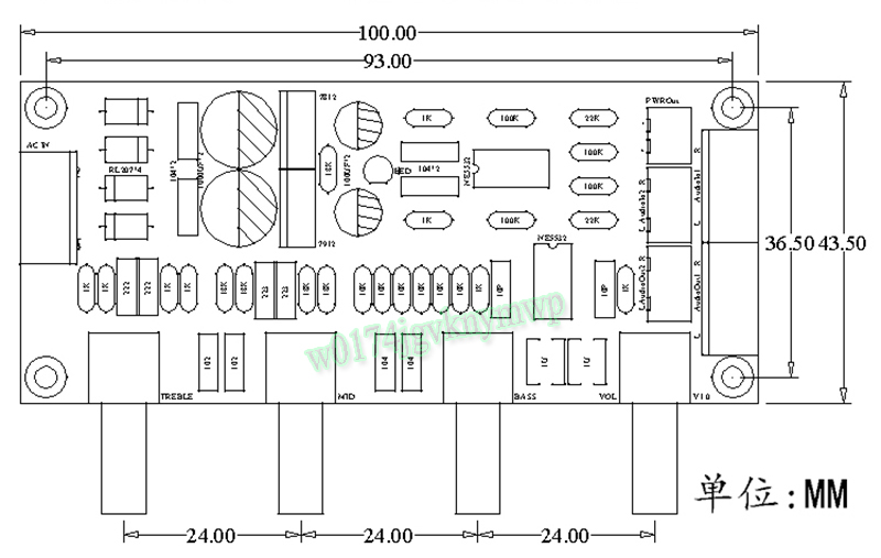 Details about NE5532 Preamp Pre-amplifier Tone Board DIY Kits Treble Alto  Bass Volume Control