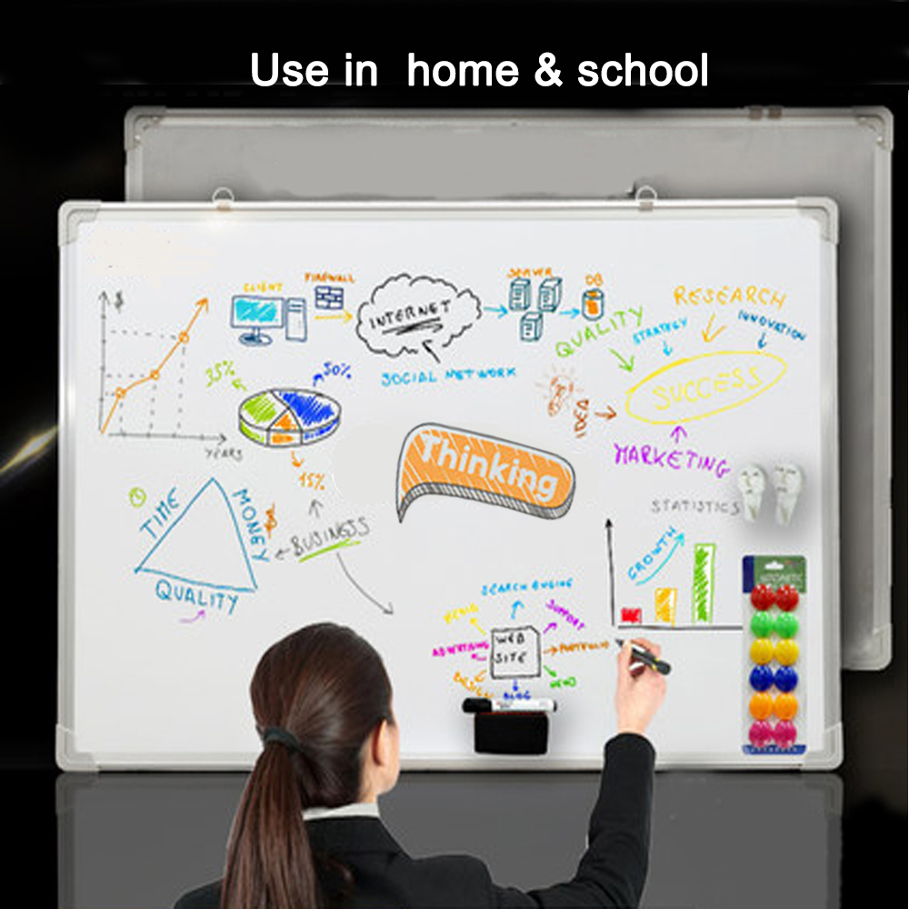 whiteboard for home office. Dry Wipe Magnetic Whiteboard White Notice Memo Board Office Meeting School Home For