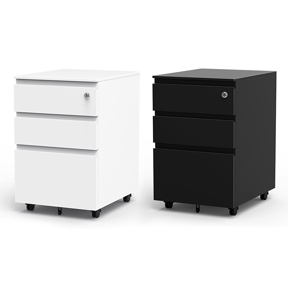 3 Drawer Filing Cabinet Rolling Metal File Organizer with ...
