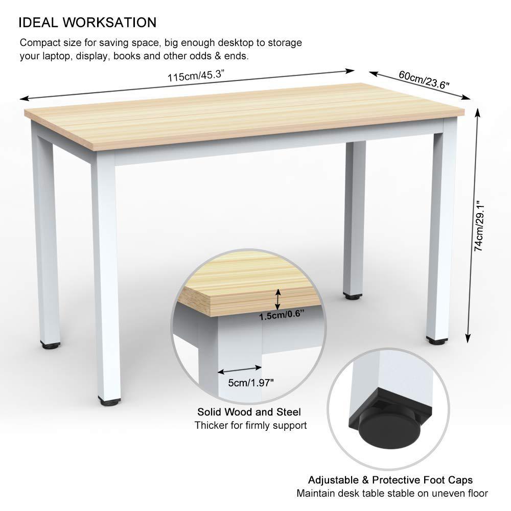 Dimensions 115 60 74cm L W H 47 2 23 6 29 Inch Board Thickness 1 5cm 0 6inch Metal Leg Size 5 2inch