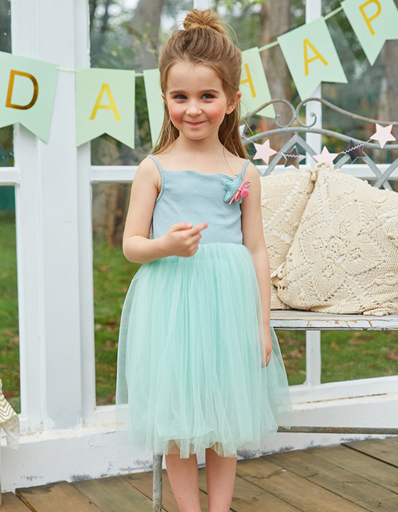 New Baby Girl Party Dress Lace Tulle Chiffon Flower Girls Wedding ...