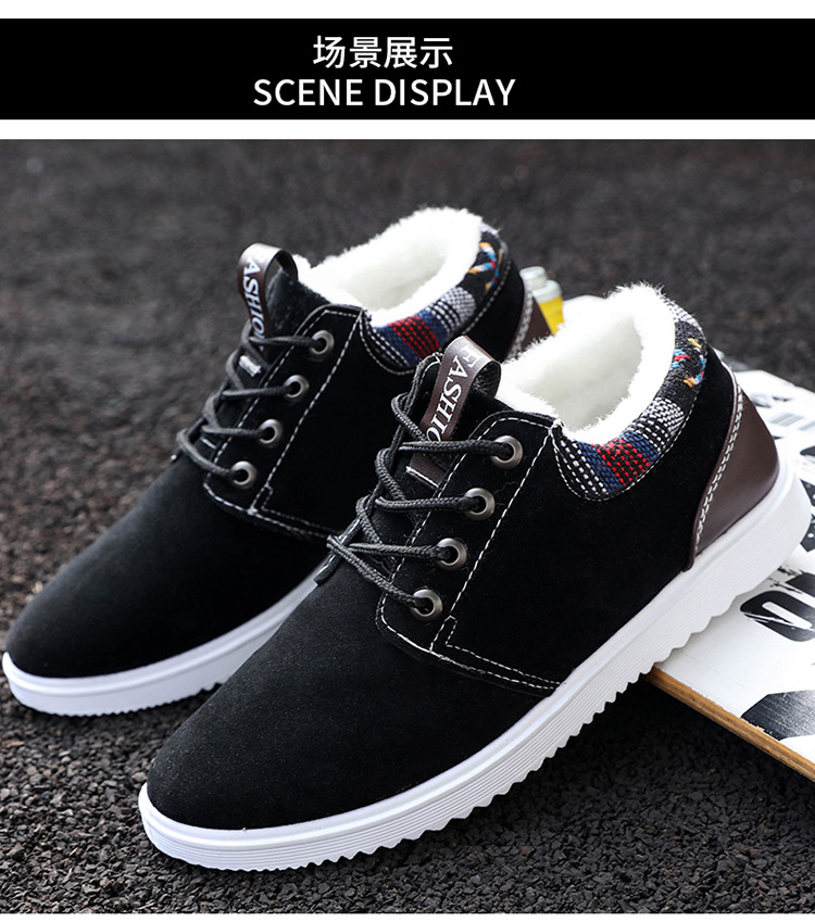 b1a70a1d35ee Details about Mens Snow Boots Outdoor Winter Sneakers Warm Shoes Fur Inside  Casual Boots