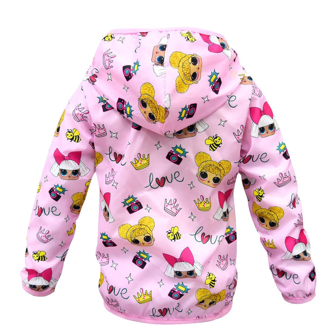 Lol Surprise Doll Sunscreen Coat Jacket Cover Hooded Cardigans Overcoat Girls