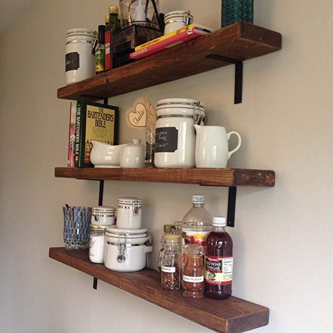 Details about UK 4PCS DIY Shelf Brackets Thicken Iron L-Shaped Right Angle  Corner Brace NEW