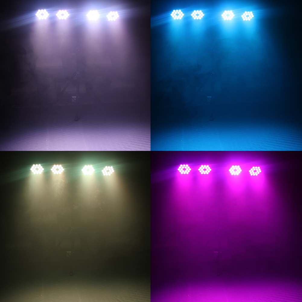 2X 180W Bühnenlicht DMX 18 LED RGBW Metall PAR Bühnenbeleuchtung Disco DJ Partei