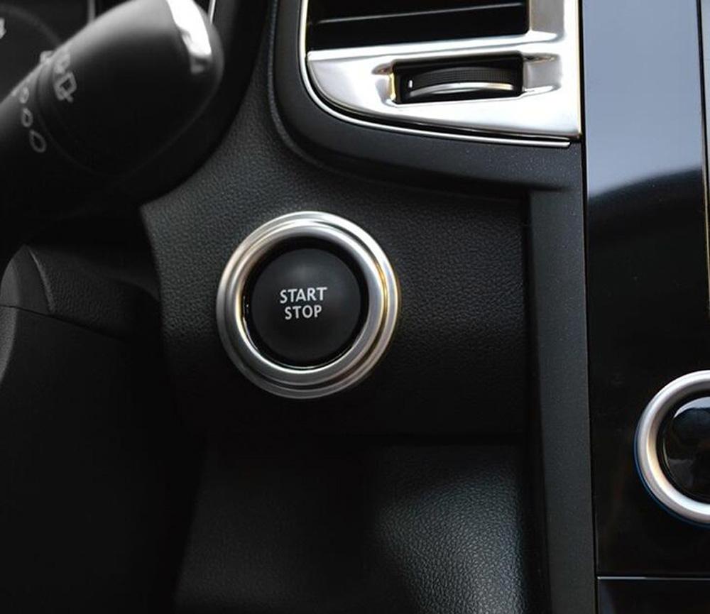 1pc Interior Car Start Stop Button Frame Cover Trim For Renault Koleos 2017