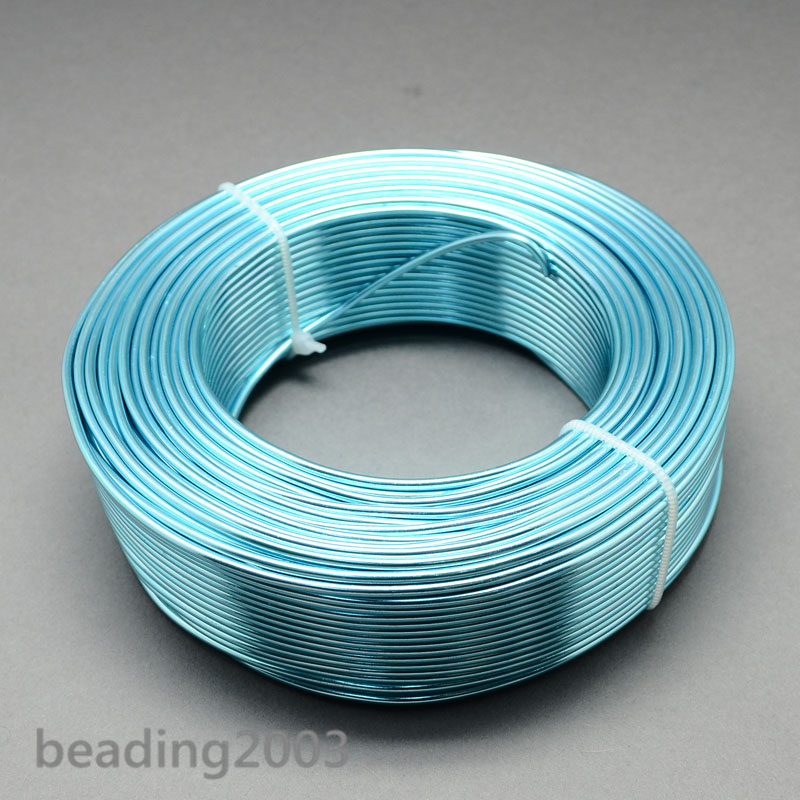 1 Roll Aluminum Wire Jewellery Beading Wire 1mm/2mm Stringing Craft ...