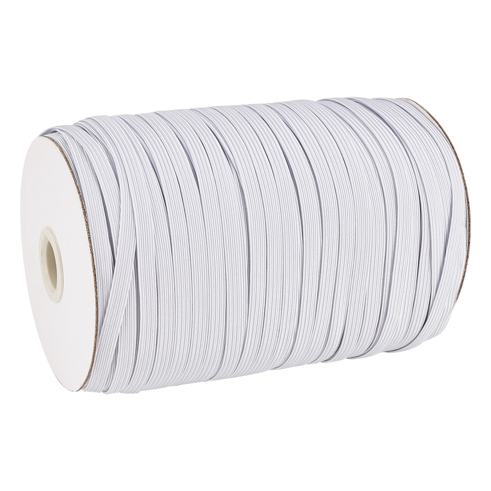 10MM WIDE AVAILABLE IN BLACK OR WHITE /& DIFFERENT LENGTHS ELASTIC 12 CORD FLAT