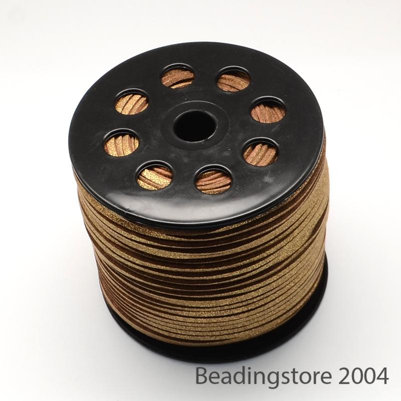 100yds//Roll Glitter Poudre coréen Plates En Daim Synthétique Cordes String Threads 2.7x1.4mm
