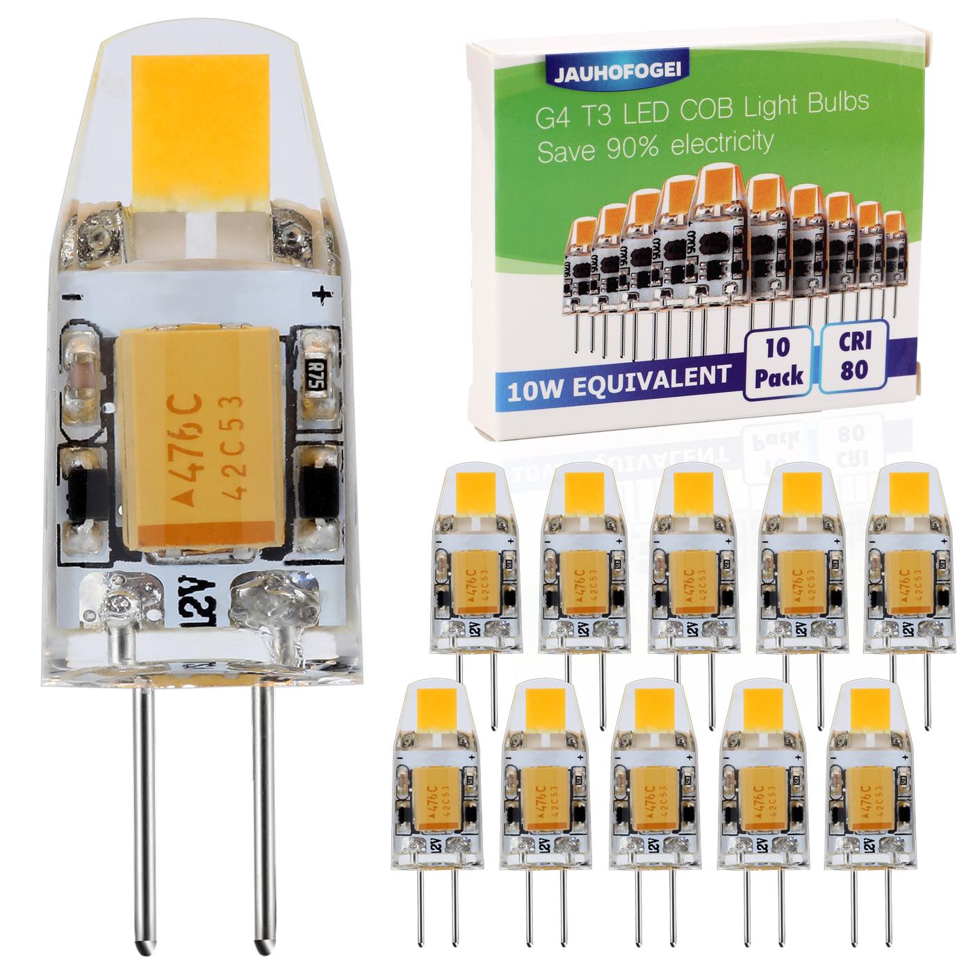 Ampoule Led G4 12v 10w.Details Sur Jauhofogei 10 X Ampoule Led G4 1w 12v Blanc Chaud Equivalent A Halogene 10w