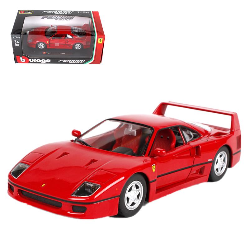 Bburago 1:24 Ferrari F40 Metal Diecast Model Car Red   eBay