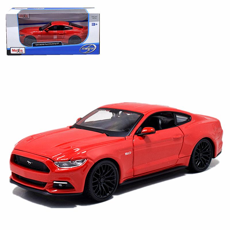 Maisto 1:24 2015 Ford Mustang GT Diecast Model Car Red   eBay