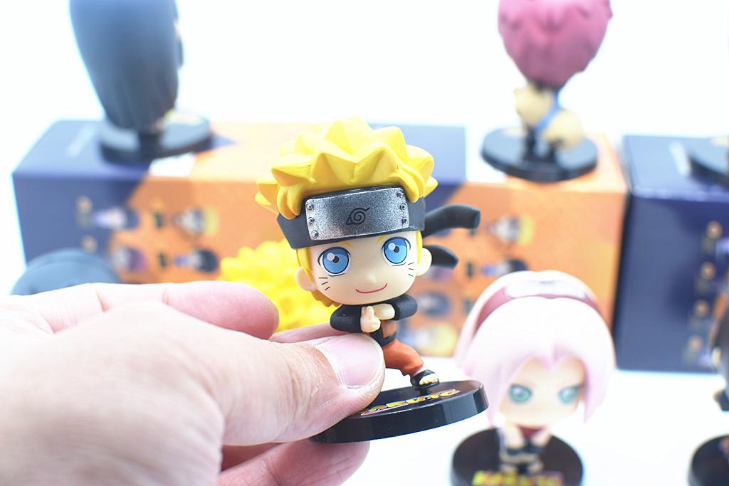 Naruto Set 8pcs Sasuke Sakura Kakashi Hinata Gaara Itachi Minato Figure 6.5CM