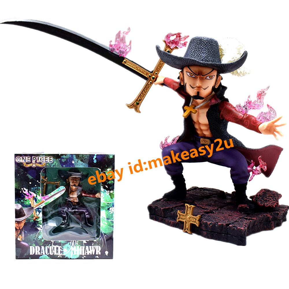 7/'/' Anime Figma One Piece Movable Dracule Mihawk  Action Figure Toy Figurine