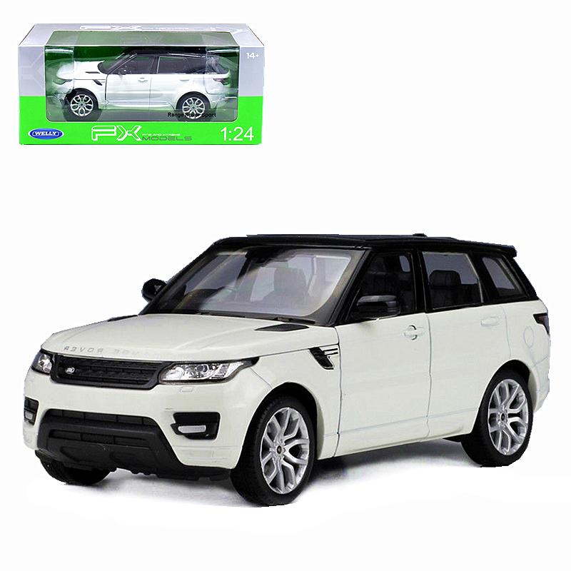 Welly 1:24 Range Rover Sport Diecast Metal Model SUV Car White