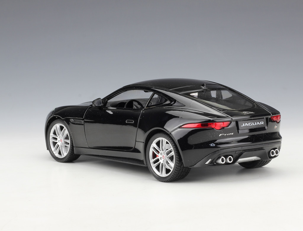 Welly 1 24 Jaguar F Type Coupe Diecast Metal Model Car Black New In