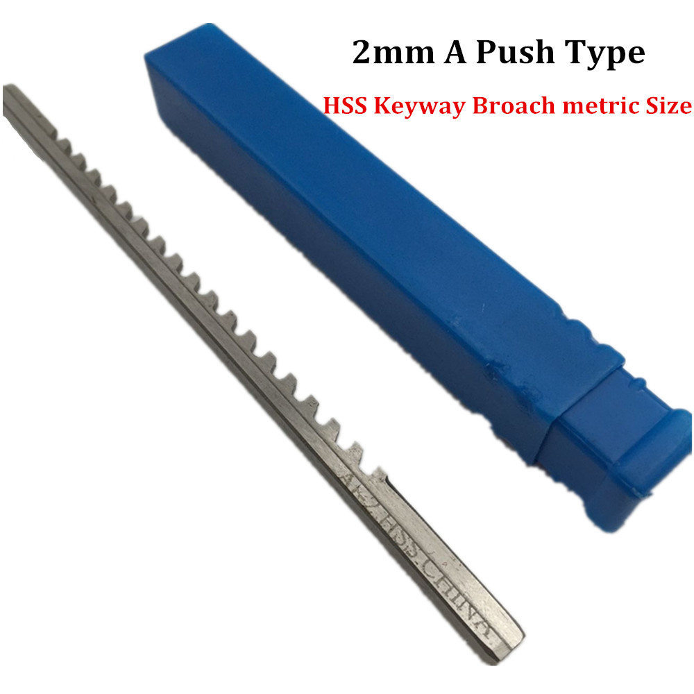 20mm F Push Type Keyway Broach Cutter Metric Size HSS Material Cutting Tool