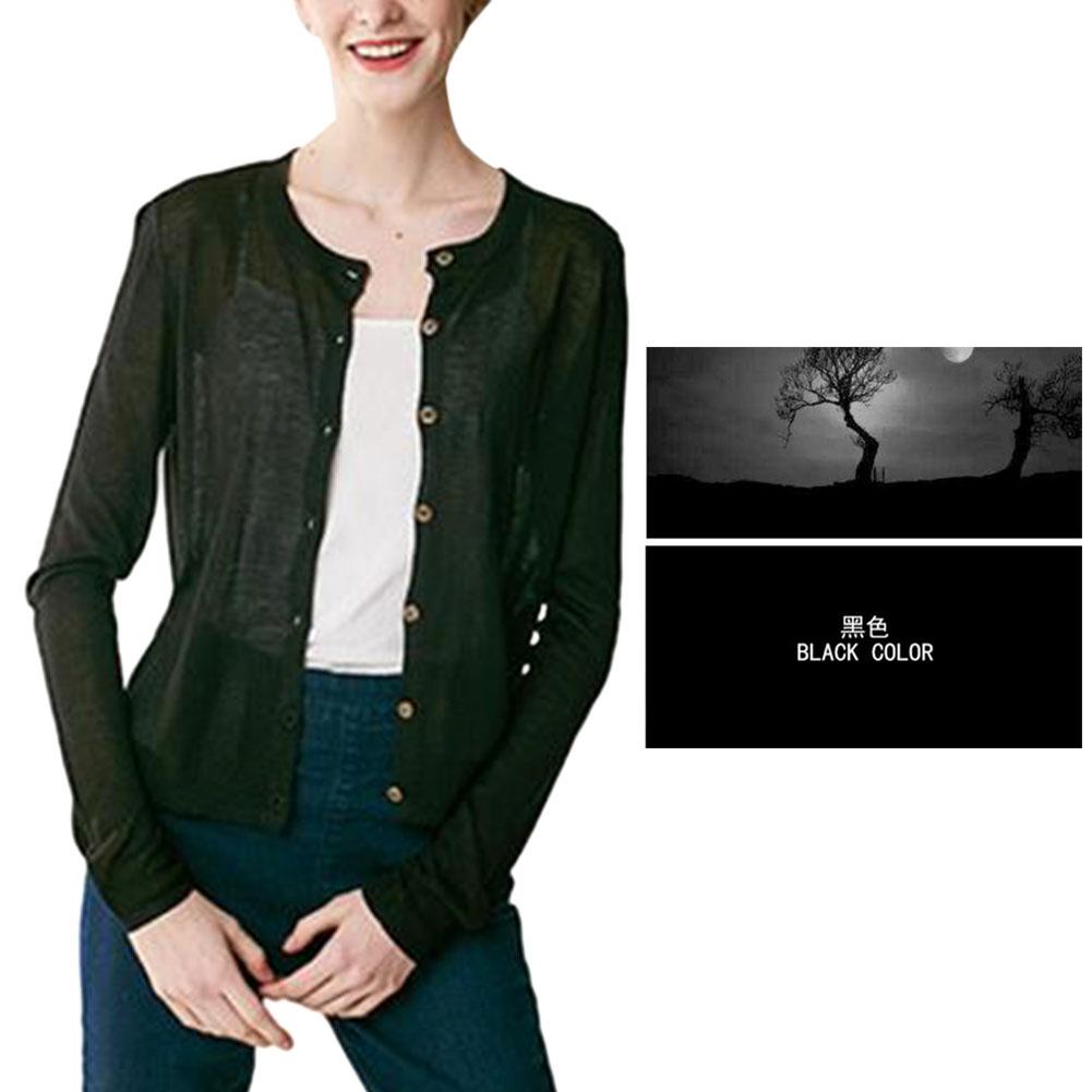 AT Women Knitwear Cardigan Sweater Blouse Top Long Sleeve Button ...