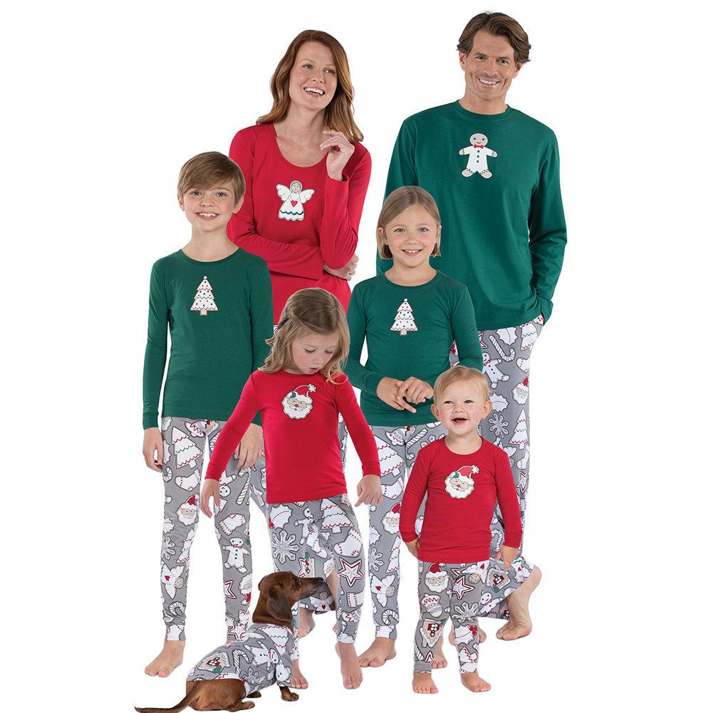 Christmas Family Pajama.Details About 2 Pieces Christmas Family Pajamas Set Long Sleeve Print Xmas Sleepwear Nightwear