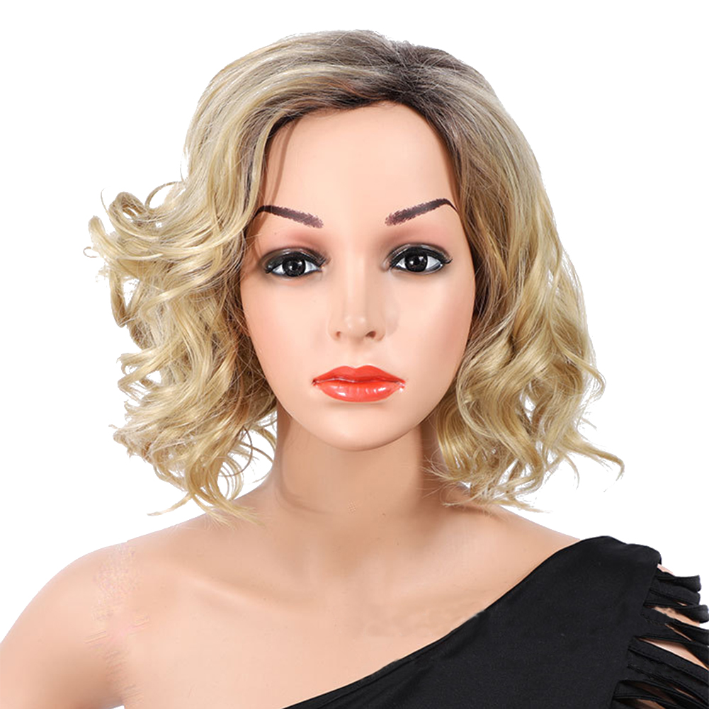 Short Curly Wig Replacement Cap Prom Synthetic Hair Female Girls Wave Perm Wigs | eBay