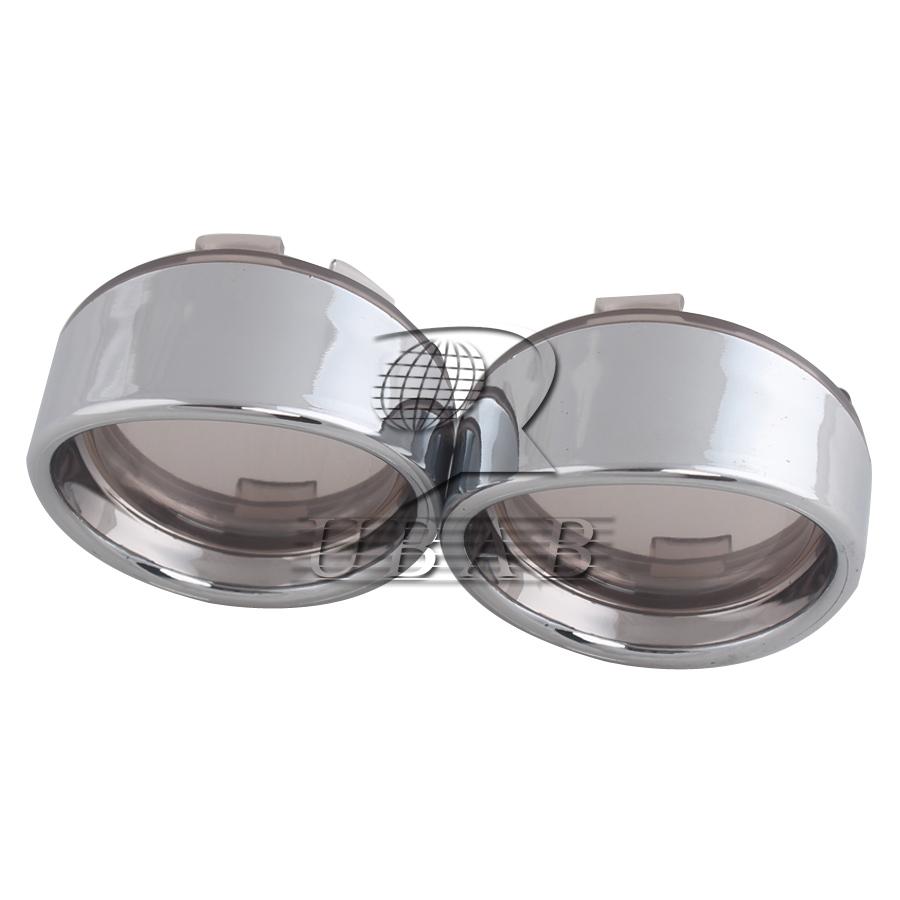Pair Smoke Turn Signal Light Lens Cover Visor Ring For Harley Touring FLT FLHR